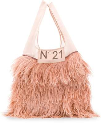 No.21 classic shopper with feathers