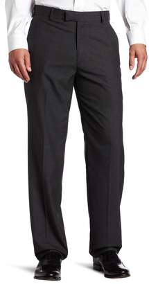 Haggar Men's Textured Pinstripe Tailored Fit Plain Front Suit Separate Pant