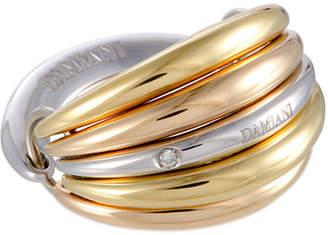 Damiani 18K Tri-Color Diamond Ring