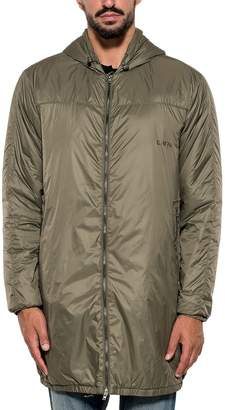 Mauro Grifoni Black Nylon Hooded Coat