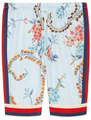 Gucci Baby poplin trousers with GG floral print