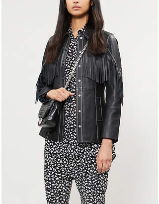 The Kooples Sleeveless leopard print chiffon shirt