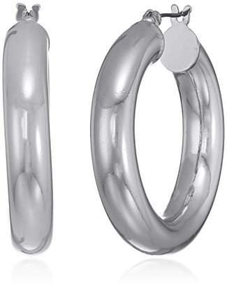 Nine West Women's -Tone Thick Hoop Earrings