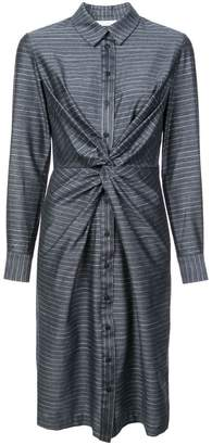 Kimora Lee Simmons pinstripe shirt dress