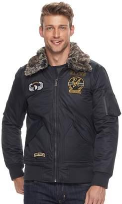 X-Ray Xray Men's XRAY Slim-Fit Faux-Fur Military Jacket