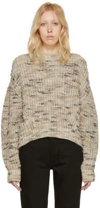Acne Studios Beige Zora Crewneck Sweater