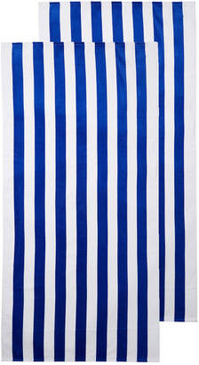 Dohler Cabana Cotton Terry Velour Beach Towels