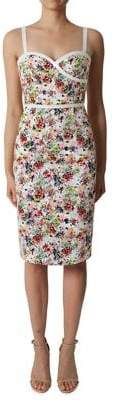 Black Halo Daria Floral Sheath Dress