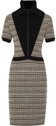 Missoni Paneled Checked Wool-Blend Dress