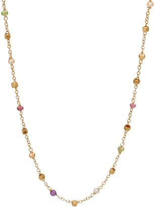 "Italian Gold 20"" Multi-Bead Gemstone Necklace 14K Gold, 2.9g"