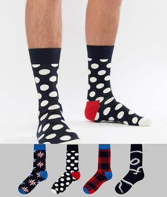 Happy Socks Socks 4 Pack Gift Set in Nautical