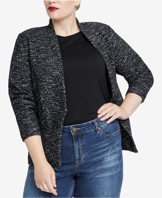 Rachel Roy Trendy Plus Size Open-Front Jacket