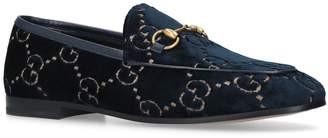 Gucci Velvet GG Jordaan Loafers