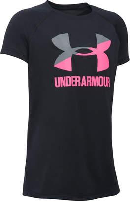 Under Armour Solid Big Logo T-Shirt, Big Girls