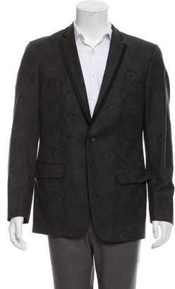 John Varvatos Intarsia Paisley Wool Blazer