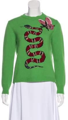 Gucci Wool Sweater Green Wool Sweater