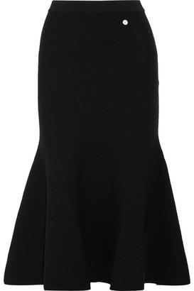 Mugler - Fluted Stretch-knit Midi Skirt - Black $860 thestylecure.com