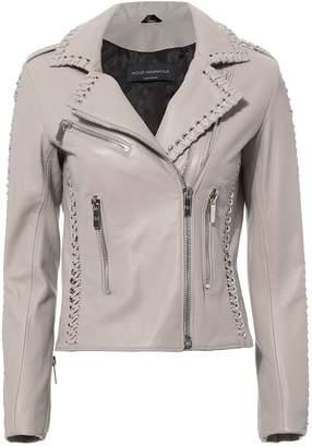 Nour Hammour Vinyl Leather Jacket