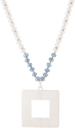 Schiff Marlyn Beaded Square Pendant Necklace