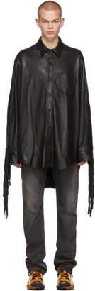 Vetements Black Lambskin Fringe Shirt