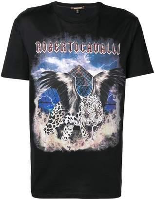 Roberto Cavalli logo print T-shirt