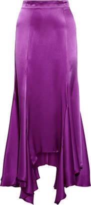 Juan Carlos Obando Vermont Silk-satin Midi Skirt