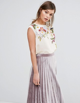 Oasis Spring Floral Print Tee $52 thestylecure.com