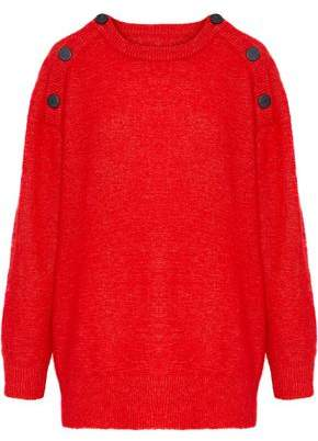 By Malene Birger Lamma Button-Detailed Knitted Sweater