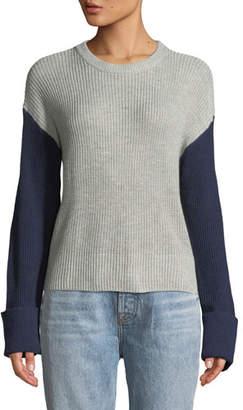 Splendid Colorblocked Crewneck Pullover Sweater