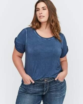 Addition Elle L&L Essential Twisted Short Sleeve Crew Neck T-Shirt