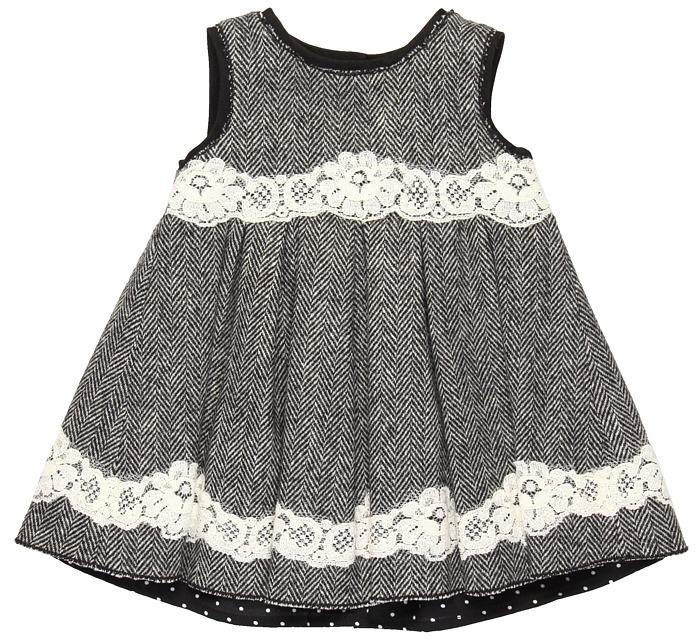 Dolce & Gabbana Chevron Dress w/ Lace (Infant) (Chevron Twill) - Apparel