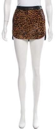 Mason Calf Hair & Leather Mini Skirt