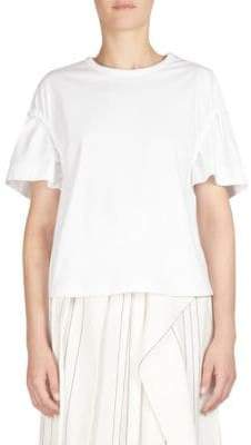 Cédric Charlier Ruched Shoulder Tee