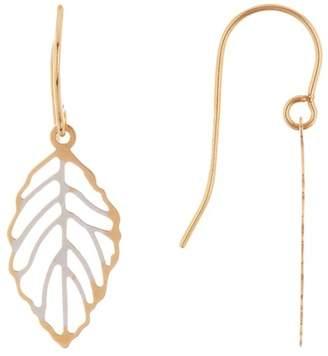KARAT RUSH 14K Yellow Gold Leaf Drop Earrings