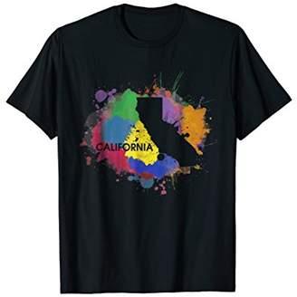 American Vintage California Map T-Shirt California Pride