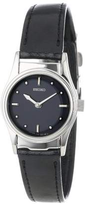 Seiko Women's SWL001 Braille Black Leather Strap Watch