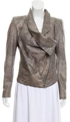 Helmut Lang Distressed Leather Jacket