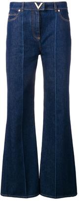 Valentino Cotton Flare Denim Jeans