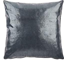 Barneys New York Shimmer-Front Suede Pillow