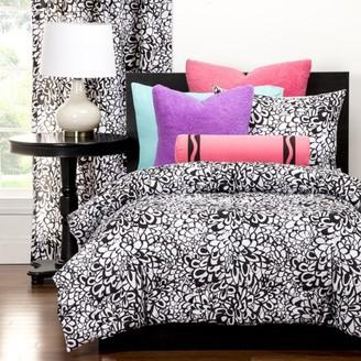 Crayola Graphic Blooms Full/Queen Comforter set