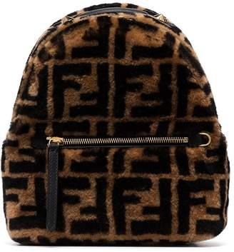 Fendi shearling FF backpack