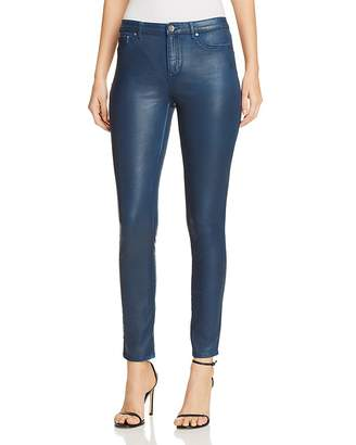 Elie Tahari Azella Coated Skinny Jeans in Blue Light Denim