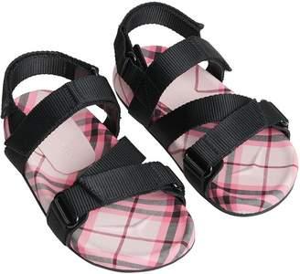 Burberry Ripstop Strap Check Cotton Sandals