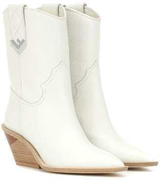 Fendi Leather cowboy boots