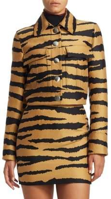 Proenza Schouler Cropped Tiger Print Jacket