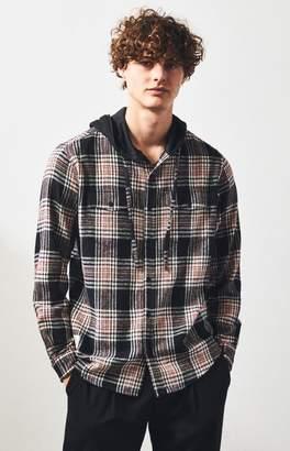 Lira Hobbs Hooded Plaid Flannel Shirt
