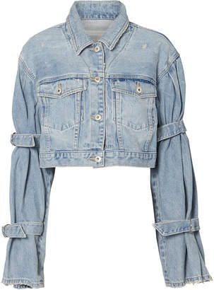 Jonathan Simkhai Tie Sleeve Denim Jacket