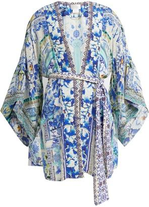 CAMILLA Porcelain Paradise-print silk kimono $570 thestylecure.com