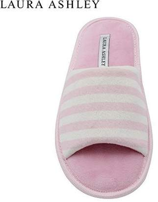 Laura Ashley Ladies Open Toe Printed Slippers with Memory Foam Insole in , Size XL
