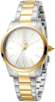 Just Cavalli 32mm Relaxed Bracelet Watch, Two-Tone